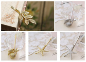 Fireboomoon 10Pcs Shell Bobby Pin Starfish Bobby Pin Olive Branch Leaves Barrettes Bobby Pin Hair Clips Headwear Edge Clip Clamps Lady Hair Accessories