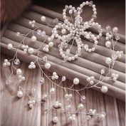 Pearl/ Crystal Bridal Wedding Hair Pin/hairband + Free Top-ishop Cable Tie