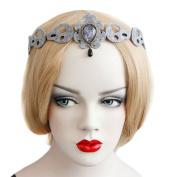 Elegant Headband Hair Band For Women/Girls,Black/Ivory/Grey