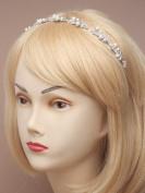Chichi Gifts Crystal Pearl Vintage Tiara Headband Bridal