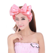 Women Fashion Lovely Soft Elastic Bowknot Hair Band for Makeup Cosmetic Shower