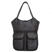 7 A.M. Enfant Barcelona Nappy Bag, Metallic Charcoal