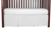Double Pleat Tailored Crib SkirtOptic White 38cm long