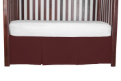 Double Pleat Tailored Crib SkirtAntique Red 38cm long
