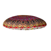 "Ikevan® Large Mandala Floor Pillows Round Bohemian Meditation Cushion Cover Ottoman Pouffe(80*80cm"")"