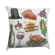 Pillow Case,Dirance(TM) Home Decor Thanksgiving Pillow Cover Thankful sentiment Pillowcases Embroidered Cushioncase