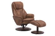Glider & Ottoman Set with Cusion in Brown