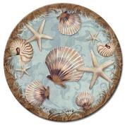 CounterArt Coastal Charm Glass Lazy Susan Serving Plate, 33cm