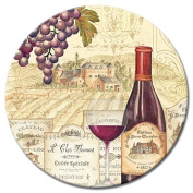 CounterArt Wine Tradition Glass Lazy Susan Serving Plate, 33cm