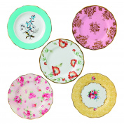 Royal Albert 5 Piece 100 Years 1950-1990 Plate Set, 20cm , Multicolor