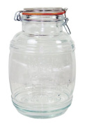 Grant Howard 50132 Medium Cracker Barrel Jar with Air Tight Wire Bail Closure, 2.8l