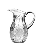 Majestic Gifts APW-162 European Handmade Crystal Pitcher, 1420ml, Clear