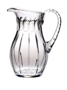 Majestic Gifts 1420ml Cut Crystal Pitcher with Handle, Large, Joy
