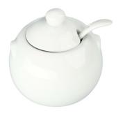 Bia Cordon Bleu 904028 White Porcelain Sugar Bowl With Cover, 240ml, White