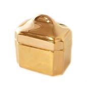 CRU by Darbie Angell Monaco 24kt Sugar Bowl, Gold/White