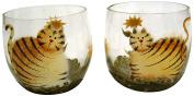 Craft Outlet Glass Tea Light Holders, 5.7cm , Set of 4