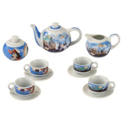 Cardew Design PET911 PETER PAN Miniature Collector's Tea Set with Teapot, Creamer, Covered Sugar Cup & Saucer (Set of 4), Multicolor