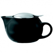 Service Ideas TPC16BL Teapot, Ceramic, 470ml, Round, Black
