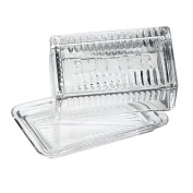 Global Amici Sonoma Covered Butter Dish, Clear