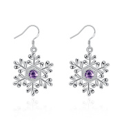 EUBUY Silver Plated Copper French Earring Hook Earwires Jewellery with Flower Dangle