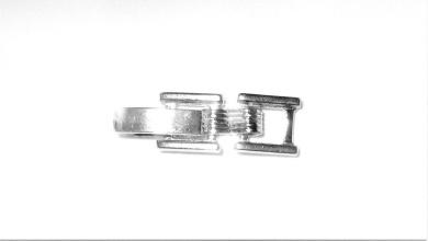2.87 - 3.87mm end Antique Silver Tone Fold Over Watch Bracelet Extender good for 3mm