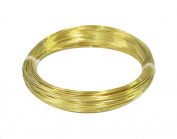 24 Ga Solid Brass Round Wire 30m Coil (Half Hard) Pack Of 1 NEW