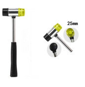 Akak Store 25mm Dual Head Nylon Rubber Hammer Jewellers Metal Mallet,Multipurpose, Doublesided & Lightweight Mallet is Perfect for DIY Projects