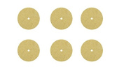 Set of 6 Unmounted 2.5cm x 0.3cm Felt Polishing Disc for Jewellery Making Metal Cleaning Polishing