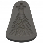 Funshowcase Bride Torso with Wedding Dress Fondant Candy Silicone Mould for Sugarcraft, Cake Decoration, Cupcake Topper, Chocolate, Pastry, Cookie Decor, Jewellery, Polymer Clay, Crafting Projects