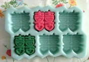 Pinkie Tm six chinese wedding soap mould silicone moulds/ handmade form for soap Clay mould Salt carving silica gel mould wholesale