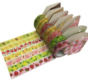 Washi Tapes- 7 Fruit Combo Set- 15mm by 5m
