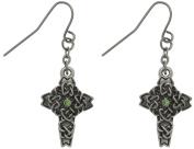 Jewellery Trends Pewter Rhinestone Celtic Cross Earrings
