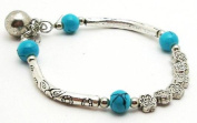 Antique-Style Fashion Jewellery Flower Row Bracelet