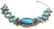 Antique-Style Fashion Jewellery Oval Blue Stone Fashion Bracelet