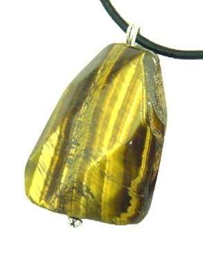 Golden Tiger Eye Lapidary Pendant Necklace