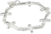 Robert Lee Morris Soho Silver Cross Link Bracelet