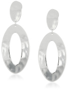 Robert Lee Morris Soho Silver Open Oval Drop Earrings