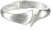 Robert Lee Morris Soho Silver Sculptural Bypass Hinged Bangle Bracelet