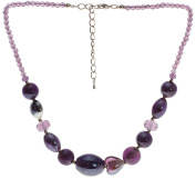 Lova Jewellery Violet Hand-blown Venetian Murano Glass Necklace