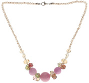 Lova Jewellery Carnation Hand-Blown Venetian Murano Glass Necklace