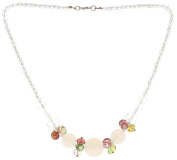 "Lova Jewellery ""White Clematis"" Hand-Blown Venetian Murano Glass Necklace"