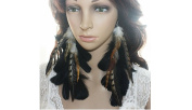 Feather Earrings for Women Black Long Feather Earrings for Women 33b1-1
