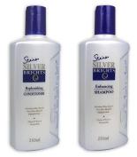 Combo! Steiner Silver Brights Purple Toning Shampoo & Conditioner *Blonde* Silver *Grey