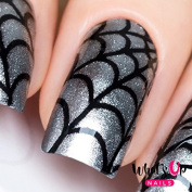Whats Up Nails - Spider Web Nail Stencils Stickers Vinyls for Nail Art Design