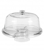 Perlli - Cake Stand Multifunctional Serving Platter and Cake Plate With Dome