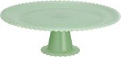 Transpac Glass Cupcake Stand, Large, Green