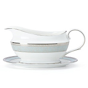 Lenox 858272 Westmore Sauce Boat and Stand, White