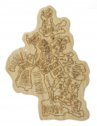 Totally Bamboo City Life Serving Board, Boston, 100% Bamboo Board for Serving and Entertaining