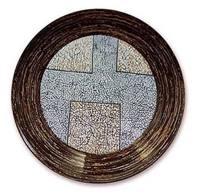 "NOVICA 50200 ""Magnitude"" Eggshell Mosaic Centrepiece"
