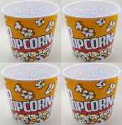 Popcorn Serving Tub 19cm X 19cm - Set of 4 Bowls